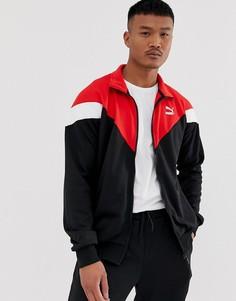 Спортивная куртка колор блок Puma Iconic-Черный