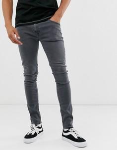Серые джинсы скинни Nudie Jeans Co Skinny Lin-Серый