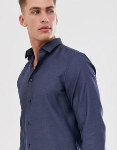 Приталенная рубашка Selected Homme-Синий