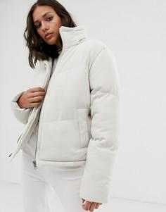 Дутая куртка с высоким воротником Native Youth-Кремовый