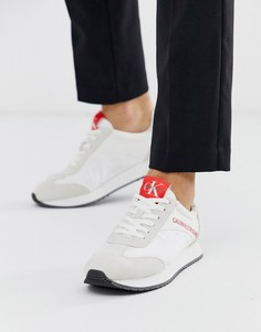 Белые кроссовки для бега Calvin Klein Jerrold-Белый