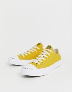 Желтые кроссовки из переработанных материалов Converse Chuck Taylor Ox All Star Renew-Желтый