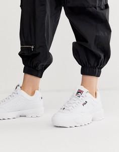 Белые кроссовки из искусственной кожи Fila Disruptor-Белый
