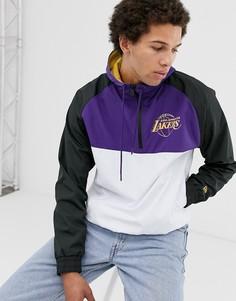 Белая куртка-ветровка с капюшоном New Era NBA Los Angeles Lakers-Белый