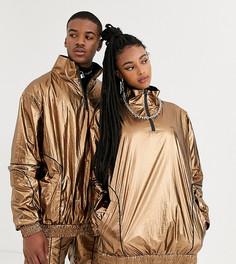 Комбинируемая куртка бронзового цвета в стиле унисекс COLLUSION-Коричневый
