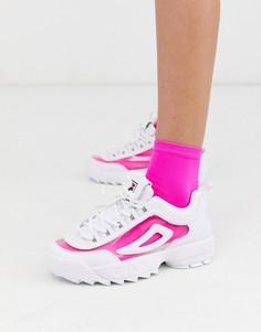 Белые кроссовки Fila Disruptor II-Белый
