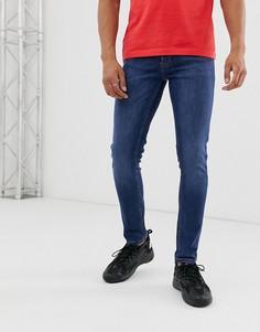 Ярко-синие джинсы скинни Topman-Синий