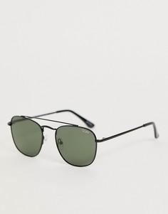 Круглые солнцезащитные очки в черной оправе Quay Australia helios-Черный