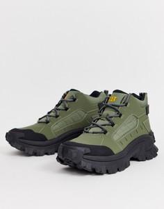 Ботинки цвета хаки на толстой подошве CAT Resistor-Зеленый