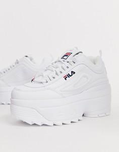 Белые кроссовки на танкетке Fila Disruptor II-Белый