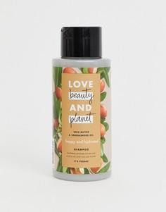 Шампунь с маслом ши и маслом сандалового дерева Love Beauty and Planet - Happy & Hydrated, 400 мл-Бесцветный