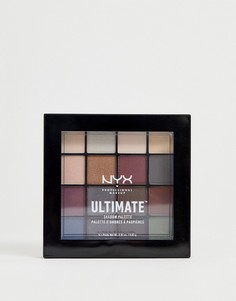 Палитра теней для век NYX Professional Makeup - Ultimate (Smokey)-Мульти