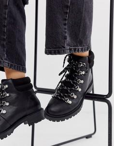 Черные походные ботинки со стразами Miss KG-Черный