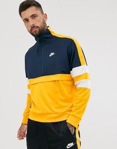 Тканая куртка через голову желтого и темно-синего цветов Nike-Желтый