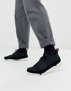 Черные нубуковые кроссовки Clarks Originals trigenic flex-Черный