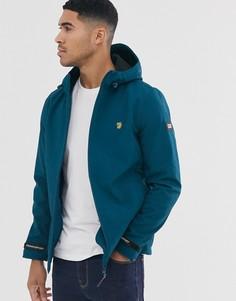 Синяя мягкая куртка с капюшоном Farah - Leyland-Синий
