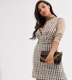 Платье-сарафан мини в клетку Vero Moda Petite-Мульти