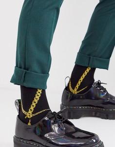 Короткие носки с принтом в стиле барокко ASOS DESIGN-Мульти