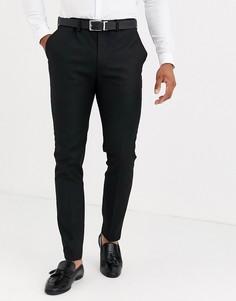 Черные брюки скинни Topman-Черный