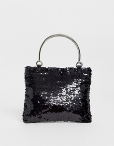 Черная маленькая сумка с пайетками Glamorous-Мульти