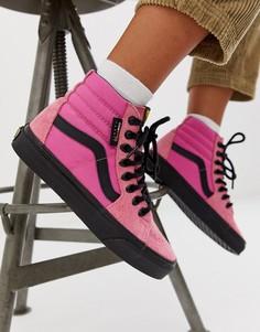 Розовые кроссовки Vans SK8-Hi Cordura-Розовый