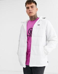 Белая дутая куртка с логотипом Vans-Белый