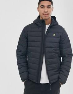 Черная дутая куртка с капюшоном Farah Bournemouth-Черный