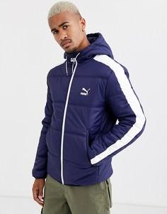 Темно-синяя дутая куртка Puma-Темно-синий