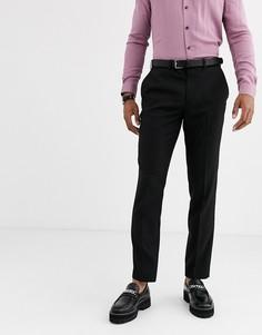 Черные узкие брюки Topman-Черный
