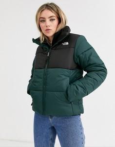 Зеленая дутая куртка The North Face Saikuru-Зеленый