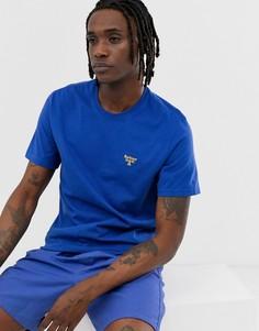 Синяя футболка с маленьким логотипом Barbour Beacon-Синий