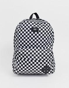 Рюкзак в шахматную клетку Vans Old Skool III-Черный