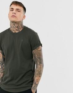 Серая футболка свободного кроя G-Star Shelo-Серый