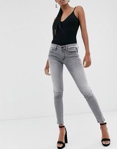 Серые джинсы скинни с классической талией Replay-Бесцветный