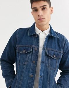 Выбеленная джинсовая куртка Abercrombie & Fitch-Синий