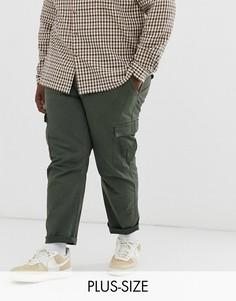 Суженные книзу брюки карго цвета хаки Only & Sons-Зеленый