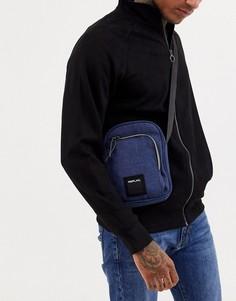 Синяя джинсовая сумка через плечо с логотипом Replay-Синий