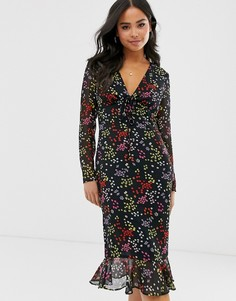 Платье миди с цветочным принтом The East Order jessie jo-Мульти