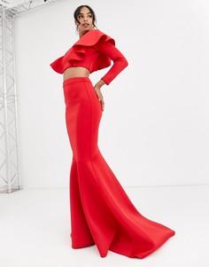 Красная юбка макси True Violet Black Label-Красный