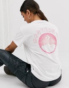 Белая футболка с принтом Converse-Белый