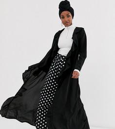 Черная куртка с оборкой Verona-Черный