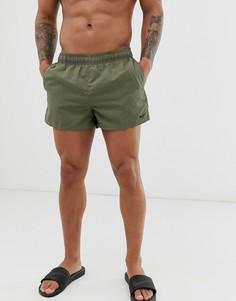 Короткие шорты для плавания цвета хаки Nike-Зеленый