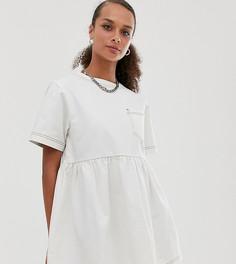 Белое свободное платье COLLUSION-Белый