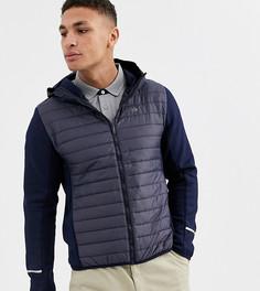 Темно-синяя куртка с капюшоном и дутыми вставками Calvin Klein Golf эксклюзивно для ASOS-Темно-синий