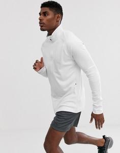 Белая куртка для бега adidas PHX-Белый