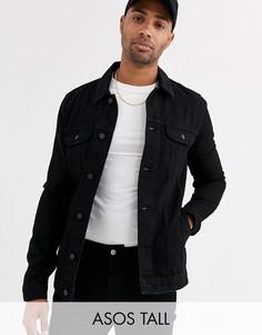 Черная джинсовая куртка ASOS DESIGN Tall-Черный