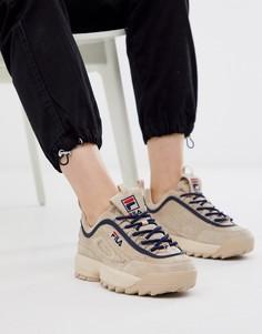 Кремовые кроссовки Fila Disruptor Luxe-Бежевый