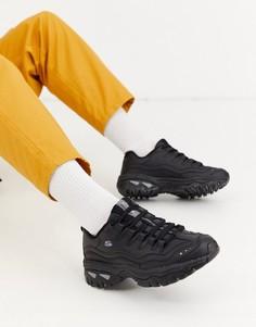 Черные кроссовки на массивной подошве Skechers Energy-Черный