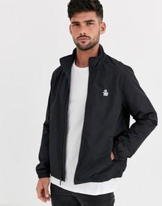 Черная нейлоновая куртка Харрингтон с логотипом Original Penguin-Черный