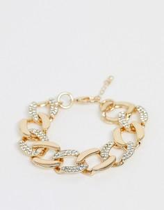 Браслет-цепочка с камнями ASOS EDITION-Золотой